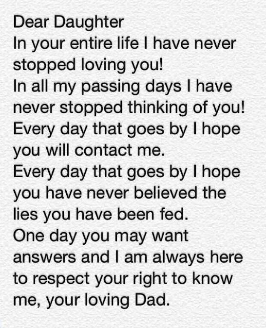 Dear daughter m