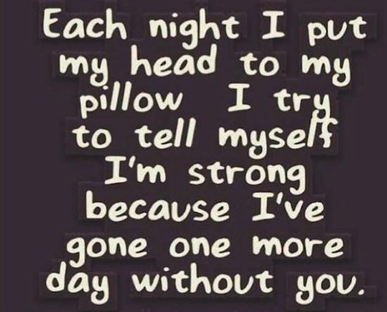 Each night I lay m