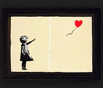 Divorce art child balloon cut here m
