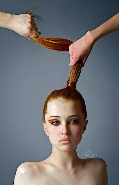 Hair pulled m
