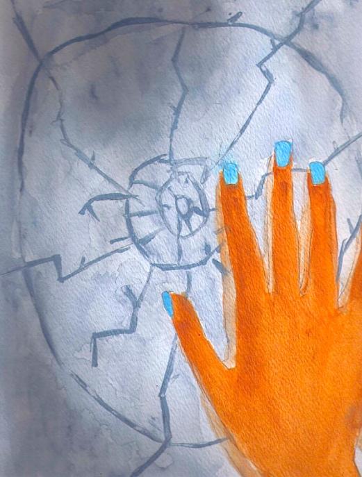 Child art div journey hand eyeball m