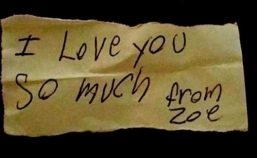 I love you zoe m