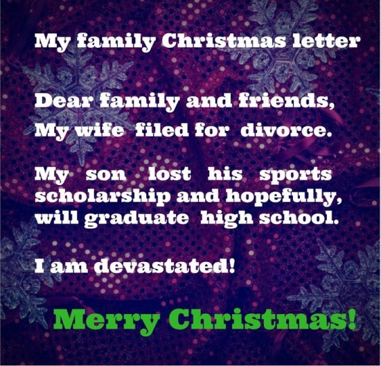 Regrets Christmas letter